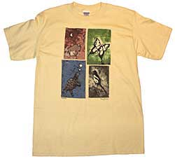 Lakota Designs T-Shirt - Nature's Wonders - Maize