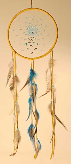 Dream Catcher - Energy Flow - Turquoise Spiral - 7