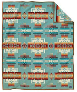 Pendleton Blanket - Chief Joseph - Aqua