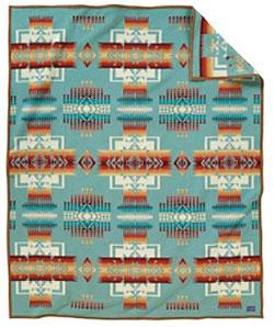 Pendleton Blanket - Chief Joseph - Aqua
