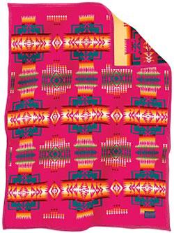 Pendleton Child's Blanket - Chief Joseph Muchacho - Cherry