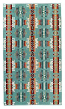 Pendleton Spa Towel - Chief Joseph - Aqua