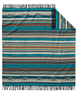 Pendleton Chimayo Throw - Turquoise Stripe