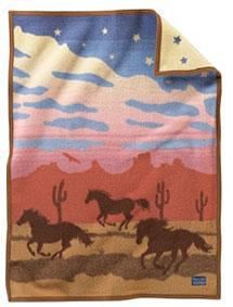 Pendleton Child's Crib Blanket - Wild Horses