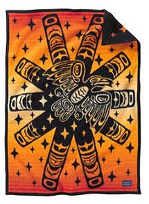 Pendleton Child's Crib Blanket - Raven Sunburst