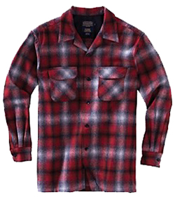 Pendleton Wool Board Shirt - Red/Grey Ombre