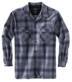 Pendleton Wool Board Shirt - Grey/Blue Ombre