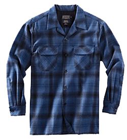 Pendleton Wool Board Shirt - Blue/Black Ombre