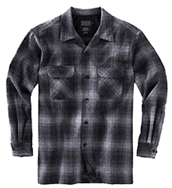 Pendleton Wool Board Shirt - Charcoal Grey Plaid