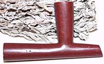 Catlinite Pipe Bowl by Alan Monroe - T-Bowl - Large