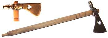 Iron Smoking Tomahawk - English Type with Pierced Heart