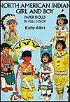 American Indian Girl and Boy Paper Dolls