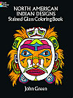 Indian Designs Stained Glass Coloring Book