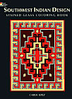 Southwest Indian Design Stained Glass Coloring Book